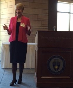 Speaking at the University of St. Thomas