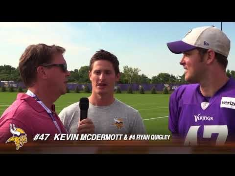 Vikings Kevin McDermott and Ryan Quigley at Training Camp